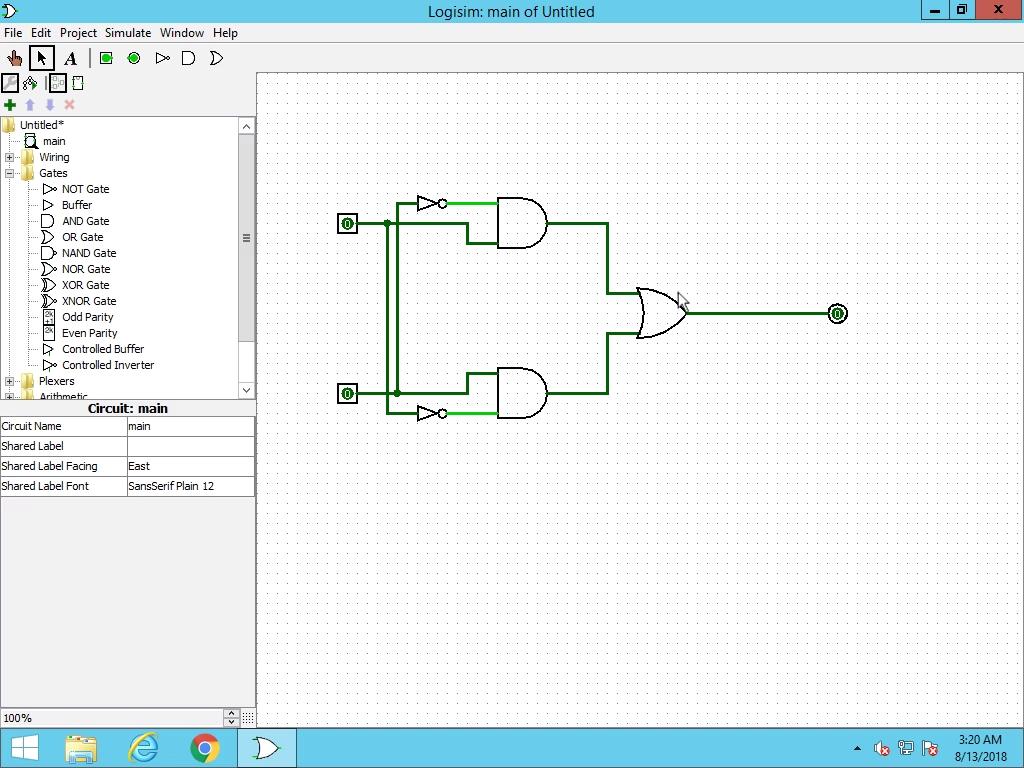 Create an XOR Circuit