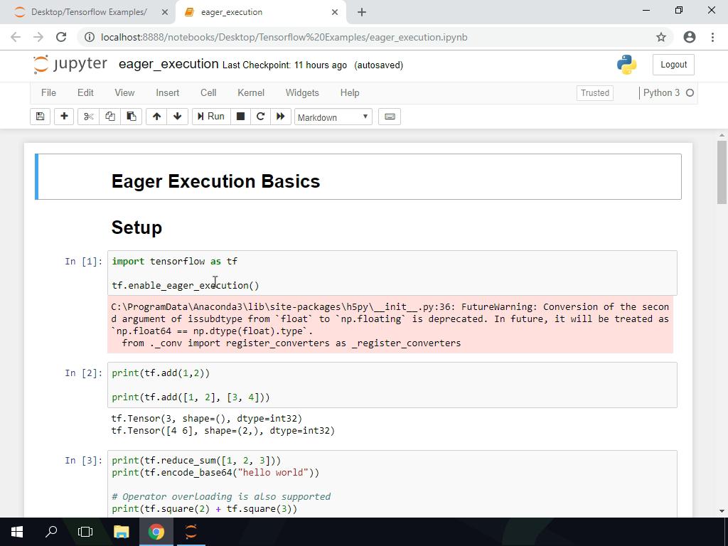 TensorFlow (Intermediate): 1 Eager Execution Basics