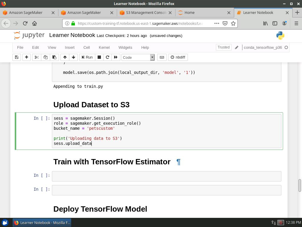 Uploading Dataset to S3