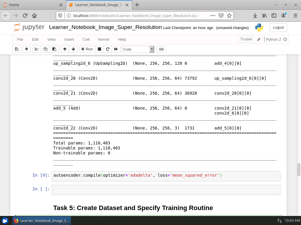 Create Dataset and Specify Training Routine