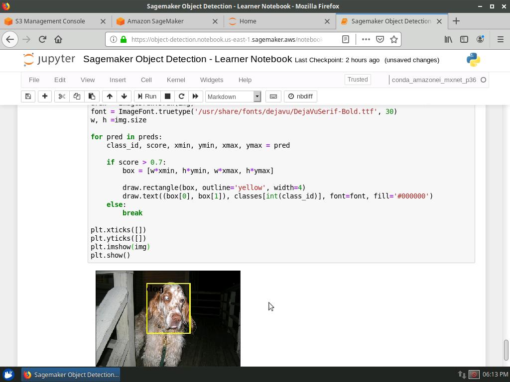 Amazon Sagemaker: Object Detection