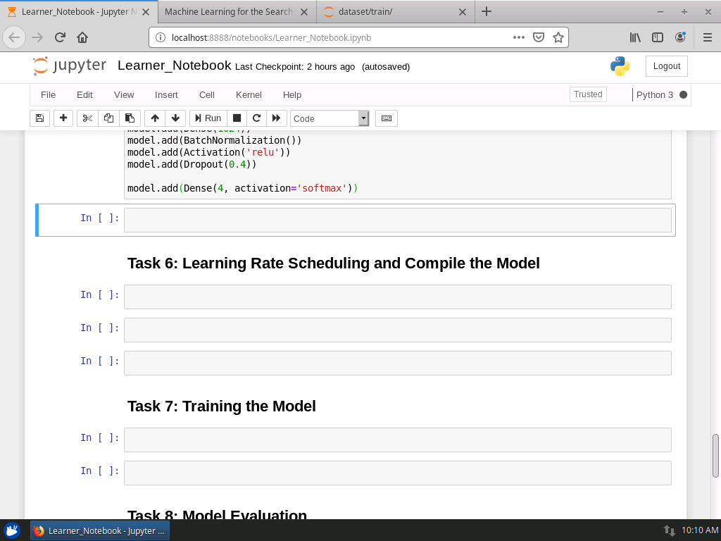 Learning rate Scheduling and Compile the Model