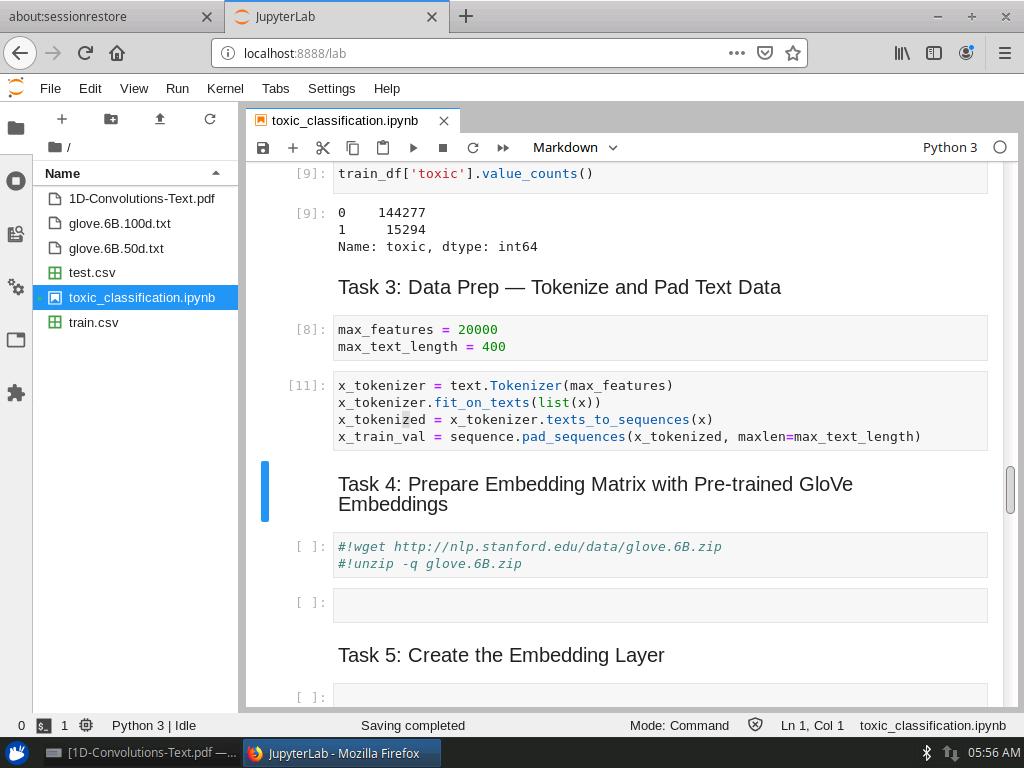 Prepare Embedding Matrix with Pre-trained GloVe Embeddings