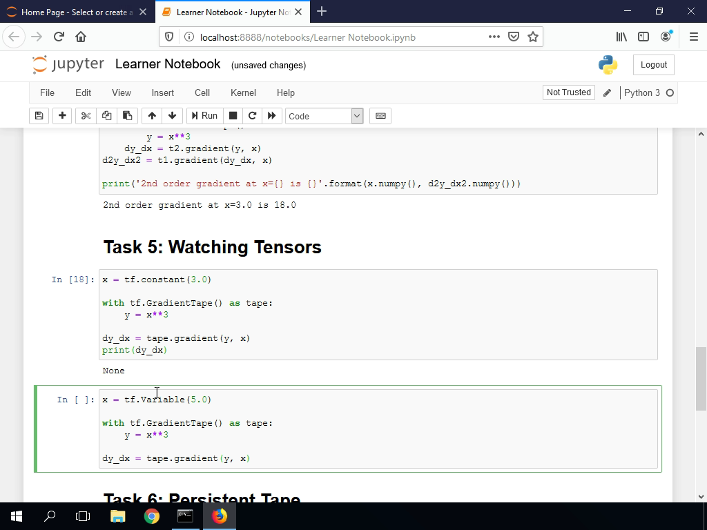 Watching Tensors