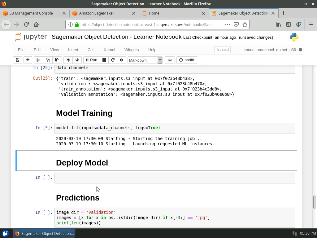 Data Channels and Model Training