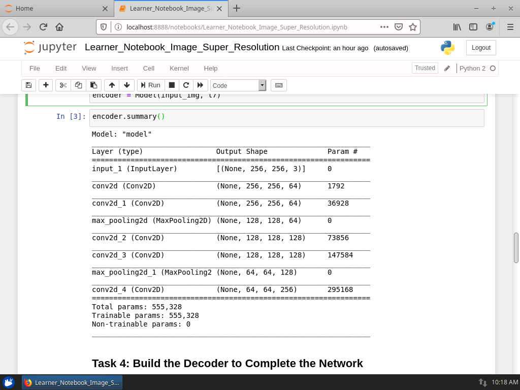 Build the Decoder to Complete the Network