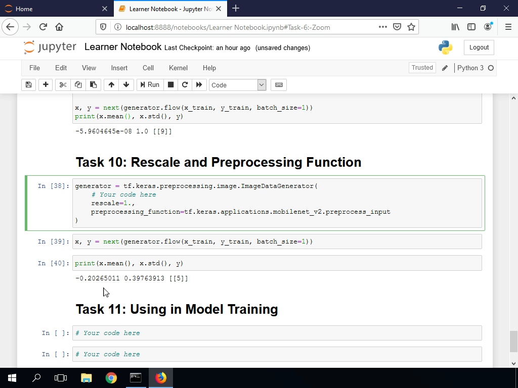 Rescale and Preprocessing Function