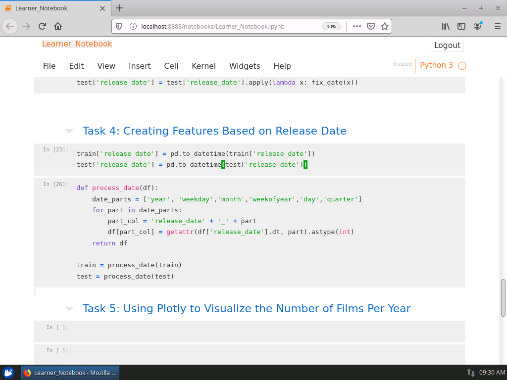 Visualize the Number of Films Per Year with Plotly
