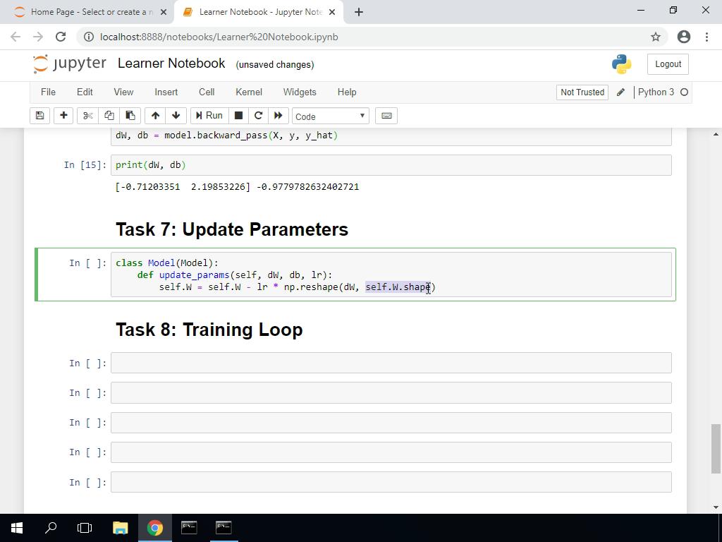 Update Parameters