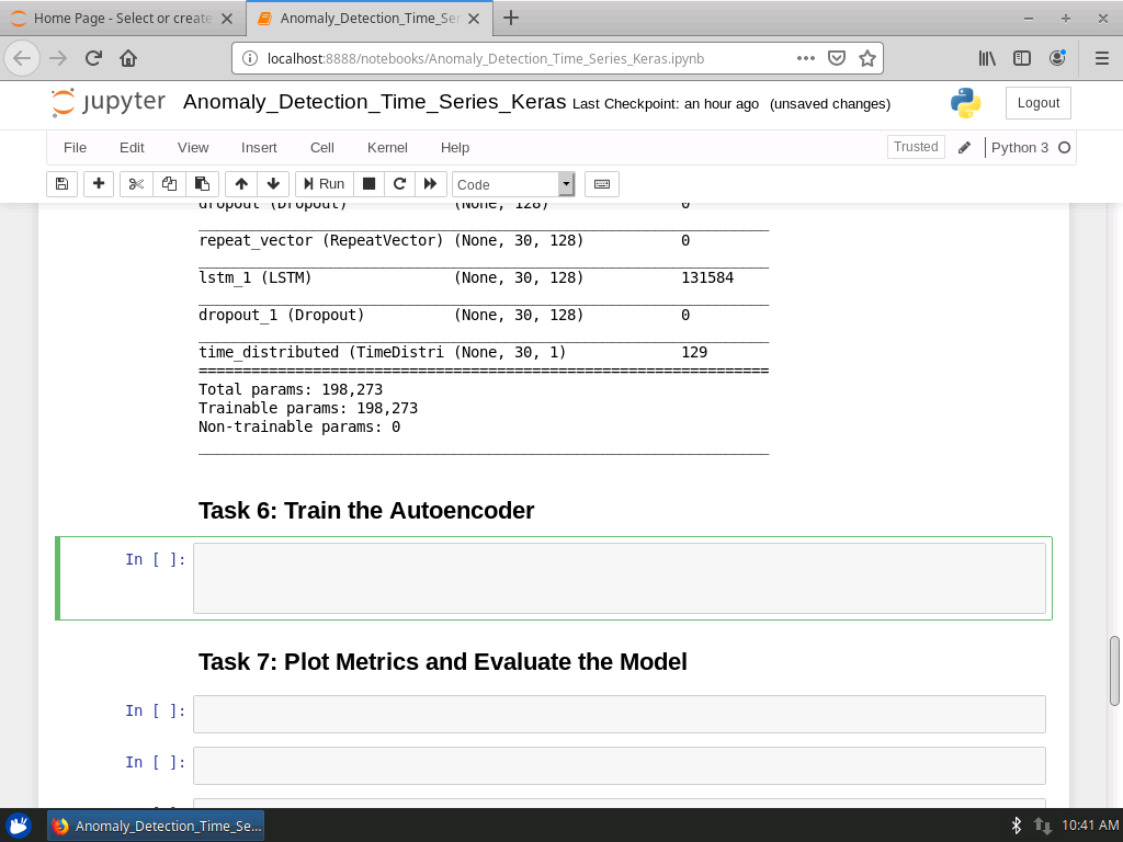 Train the Autoencoder