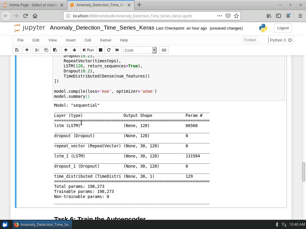 Build an LSTM Autoencoder