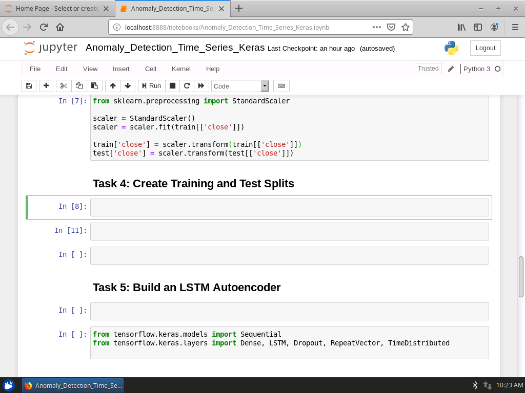 Temporalize Data and Create Training and Test Splits