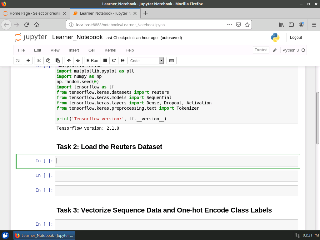 Load the Reuters Dataset