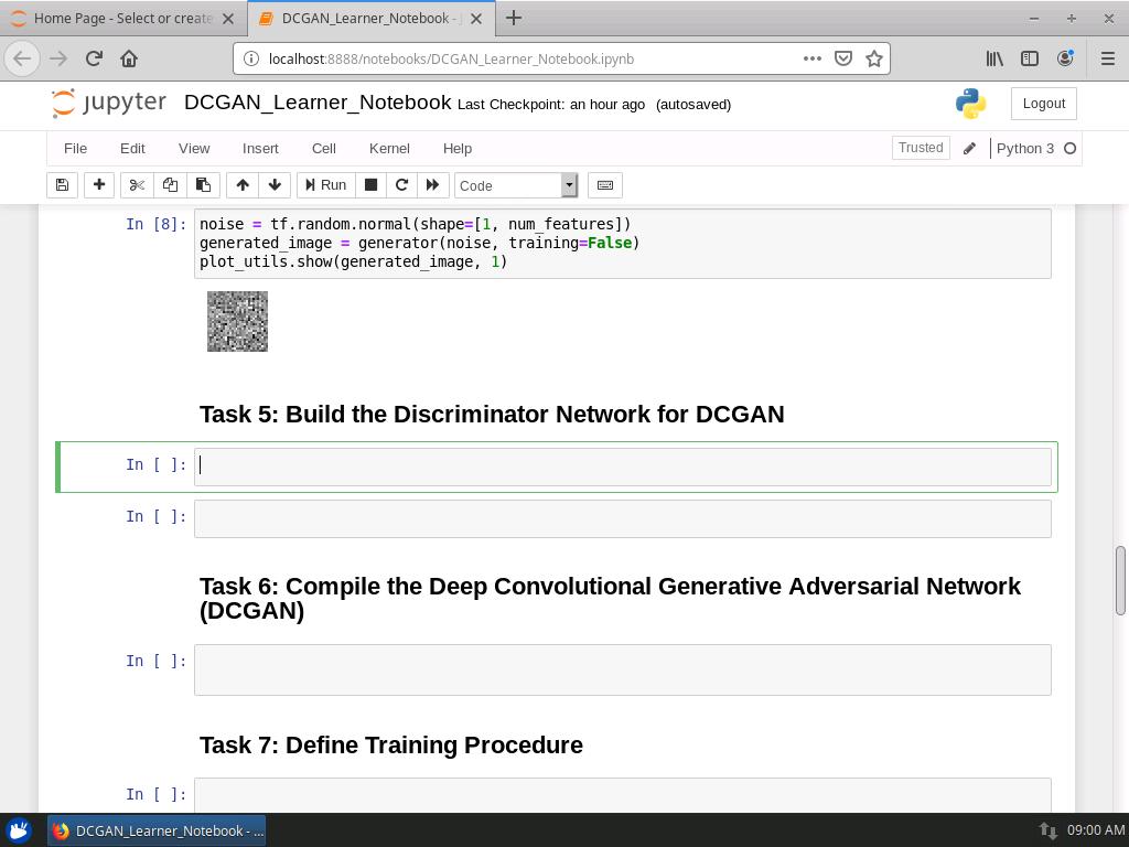 Build the Discriminator Network for DCGAN