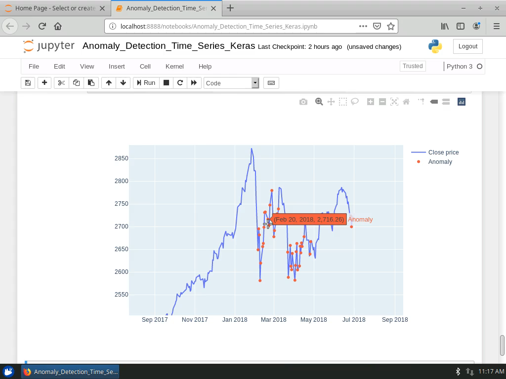 Detect Anomalies in the S&P 500 Index Data
