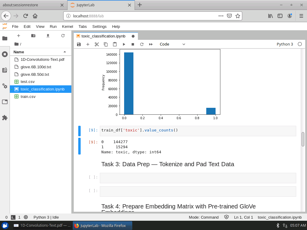 Data Prep — Tokenize and Pad Text Data