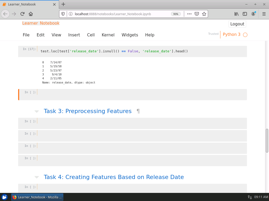 Preprocessing Features